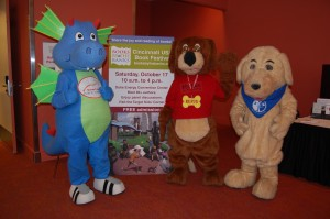 Meet Tales the Dragon, Rufus the Library Reading Dog, Booker the Reading Retriever, and more of your favorite costumed characters in the K12 Kids' Corner!