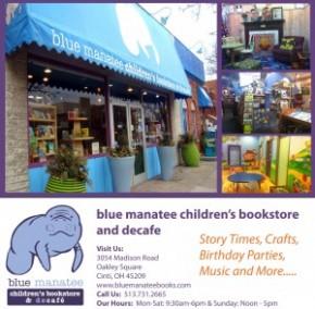 blue manatee bookstore ad. V 2ai