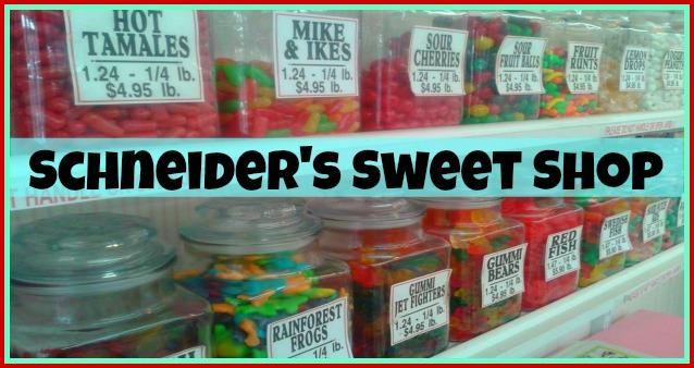 Schneiders candy banner