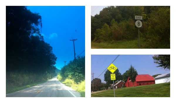 Scenic Route 8. Be sure to share the road! Route 8 is popular with cyclists and motorcycle riders too.