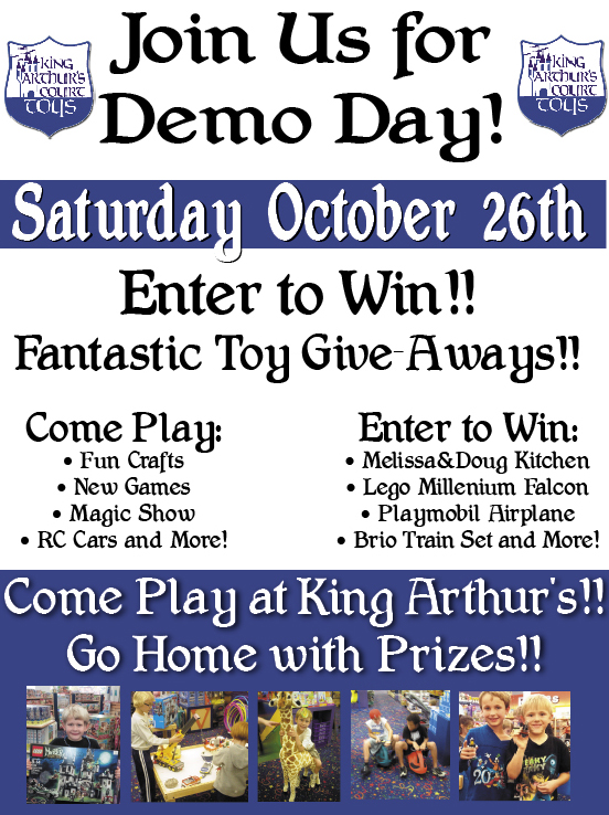 Demo Day at King Arthurs Toys