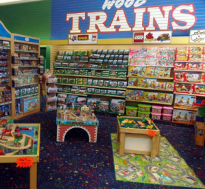Trains at King Arthur's Court Toys in Oakley